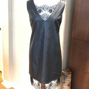 Chelsea & Violet Faux Leather & Lace Dress